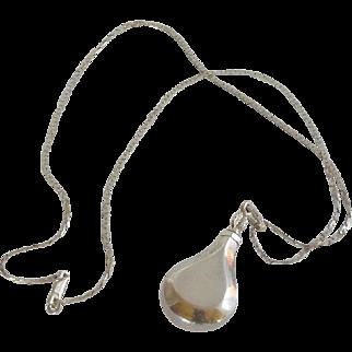 Sterling Silver Davian Flacon Perfume Necklace