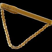 Tie Chain Tie Bar Gold Tone Hickok