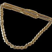 Tie Chain Tie Bar Gold Tone Swank