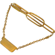 Tie Chain Tie Bar with Initial Placard Swank