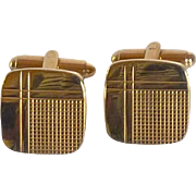 Gold Tone Swank Square Cufflinks Cuff Links