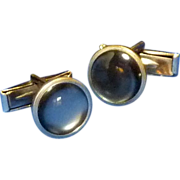Faux Mother of Pearl Black Cufflinks Cuff Links