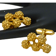 Nucleus Atom Gold Tone Cufflinks Cuff Links