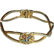 Unusual Eastern Star Hinge  Cuff  Bracelet