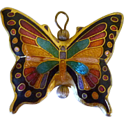 Cloisonné Butterfly Necklace Pendant