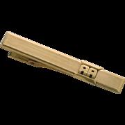 Initials A A Gold Tone Tie Bar