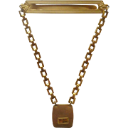 Wadsworth  1/20 10 K Gold Filled Tie Bar with Chain