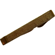 Swank Brushed Gold Tone Tie Bar Clip