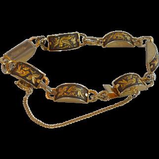 Damascene 1960's Detailed Bracelet