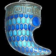 Cloisonné  Horn / Tooth  Box Pendant