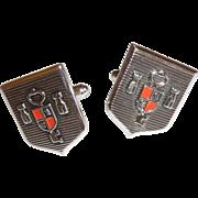 Key of The Castle Silver Tone Cuff Links Cufflinks