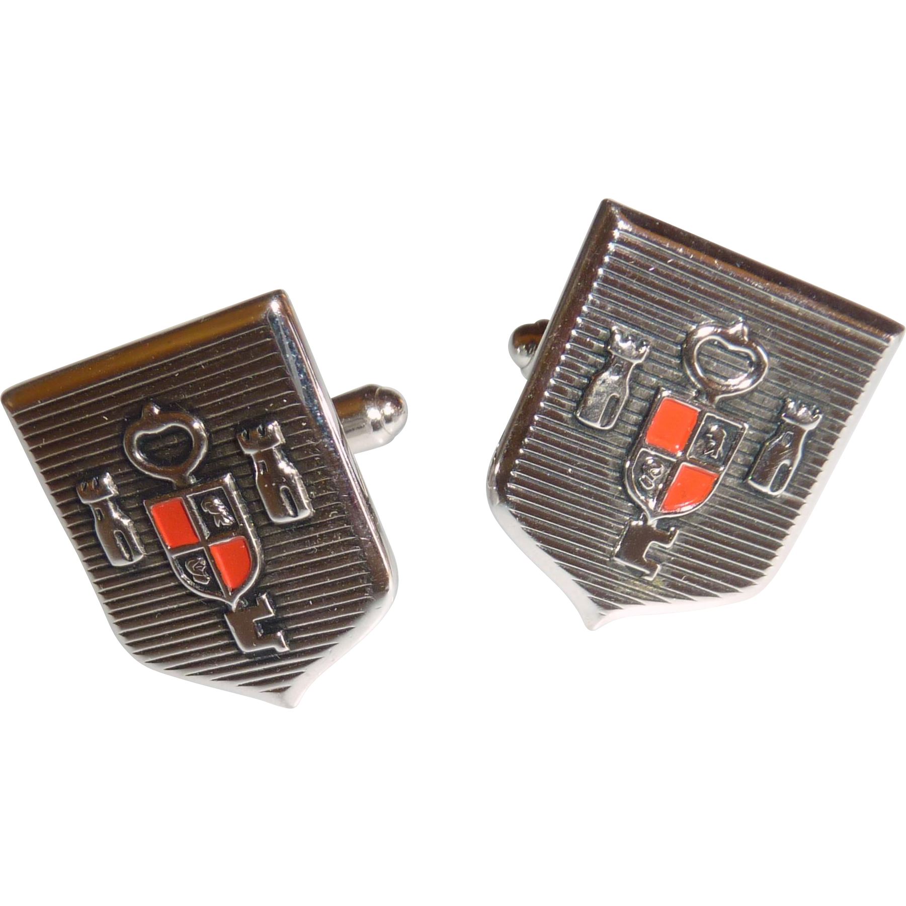 Key of The Castle Silver Tone Cuff Links Cufflinks