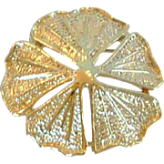 Vintage Gold Tone Flower Designer Gerry's Pin Brooch