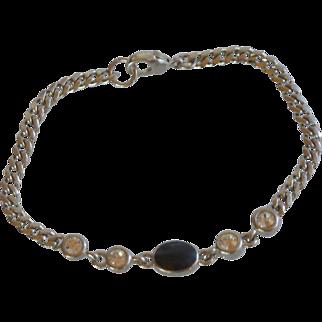 Liz Claiborne Silver Tone Chain Bracelet