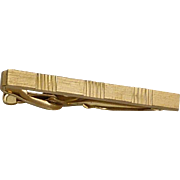 Gold Tone Tie Bar Alligator Clip