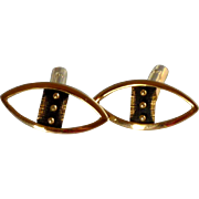 Gold Tone Diamond Shaped Cufflinks Cuff Links