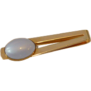 Gold Tone Blue Thermal Stone Tie Bar