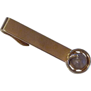 Swank 1960's Grey Dome  Gold Tone Tie Clip