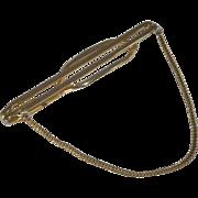 Gold Tone Foxtail Chain Bar Tie