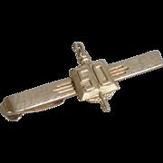 Gold Tone Hickok 50 Alligator Clip Tie Bar