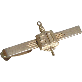 Gold Tone Hickok 50 Alligator Clip Tie Bar