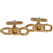 Gold Tone Chain Link  Design Cufflinks Cuff Links