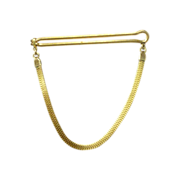 Handsome Plain Flat Snake Gold Tone Tie Bar