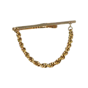 Beautiful Plain Rope Gold Tone Tie Bar