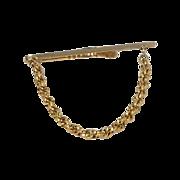 Beautiful Plain Rope Gold Tone Tie Bar