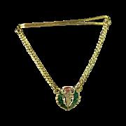 Scotland Thistle Wreath  Emblem Tie Bar with Chain