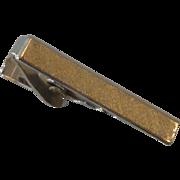 Textured Silver Tone Small Tie Clip Bar