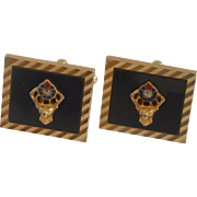 BPOE   Brother Gold Tone Cufflinks Cuff Links