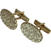 Textured Oval Light Weight Cuff Links Cufflinks