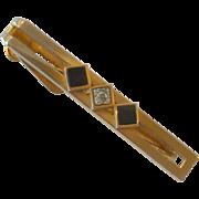 Pierre Cardin Gold Tone Tie Bar Clip
