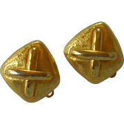 Anne Klein Gold Tone Clip On Small Earrings