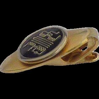 1950 Mid Century Gold Tone Tie Clip
