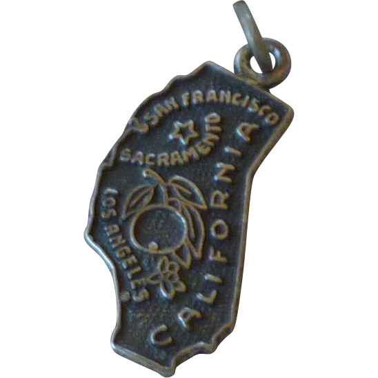 California Sterling Silver Charm