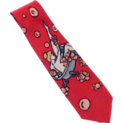 Zabel Rob Visconti  Novelty  Lady in Bathtub Silk Tie