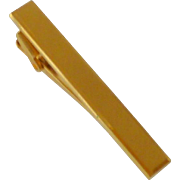 Classy Elegant Gold Tone Textured Tie Bar