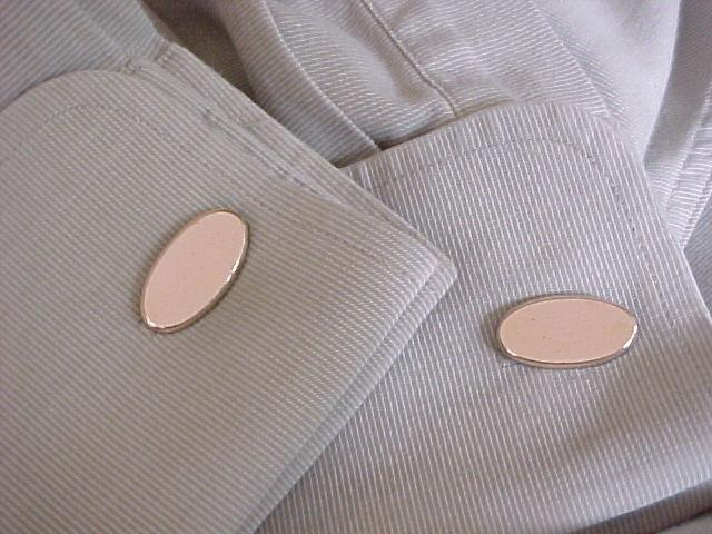 Gold Filled Initial Ready Oval Cufflinks Cuff Links