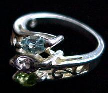 Sterling Silver 3 Color Finger Ring