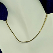 "12"" Child Children Gold Tone Barrel Necklace"
