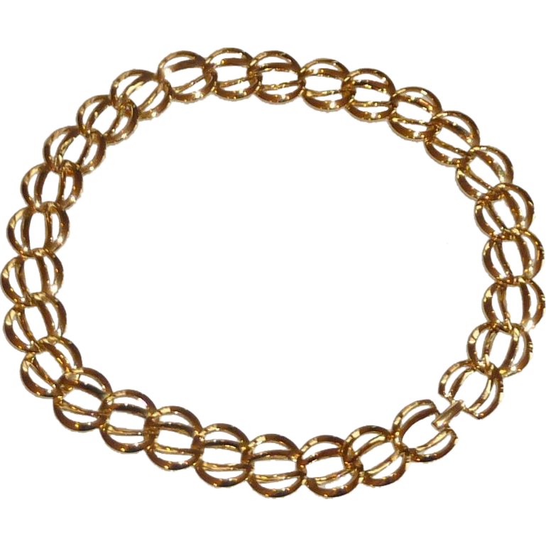 Pretty Gold Tone Chain Chocker Necklace