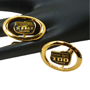Cotton Belt Railroad 100 Year Bullet Cufflinks Cuff Links