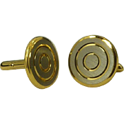 Brushed Silver Color on Gold Toned Cufflink Cuff Links