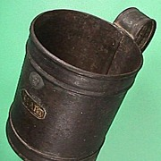 Tinned iron quart Tankard  with King George V Seal (capacity code date for 1920)