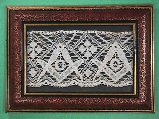 Late 1800s Bobbin Lace with Masonic Emblems