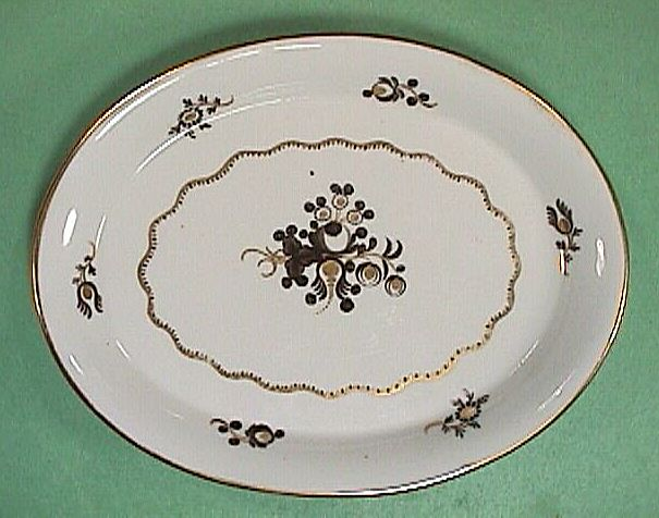 c1805 Chamberlain Worcester English Porcelain Teapot Stand Pattern #258
