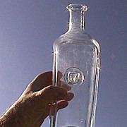 Erik Hoglund Hand Blown Flint Glass Decanter Bottle (Ox Seal from Kosta Boda 20th C)