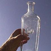 Erik Hoglund Hand Blown Flint Glass Decanter Bottle (Ox Seal from Kosta Boda 20th C)